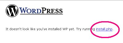 「install.php」をクリック